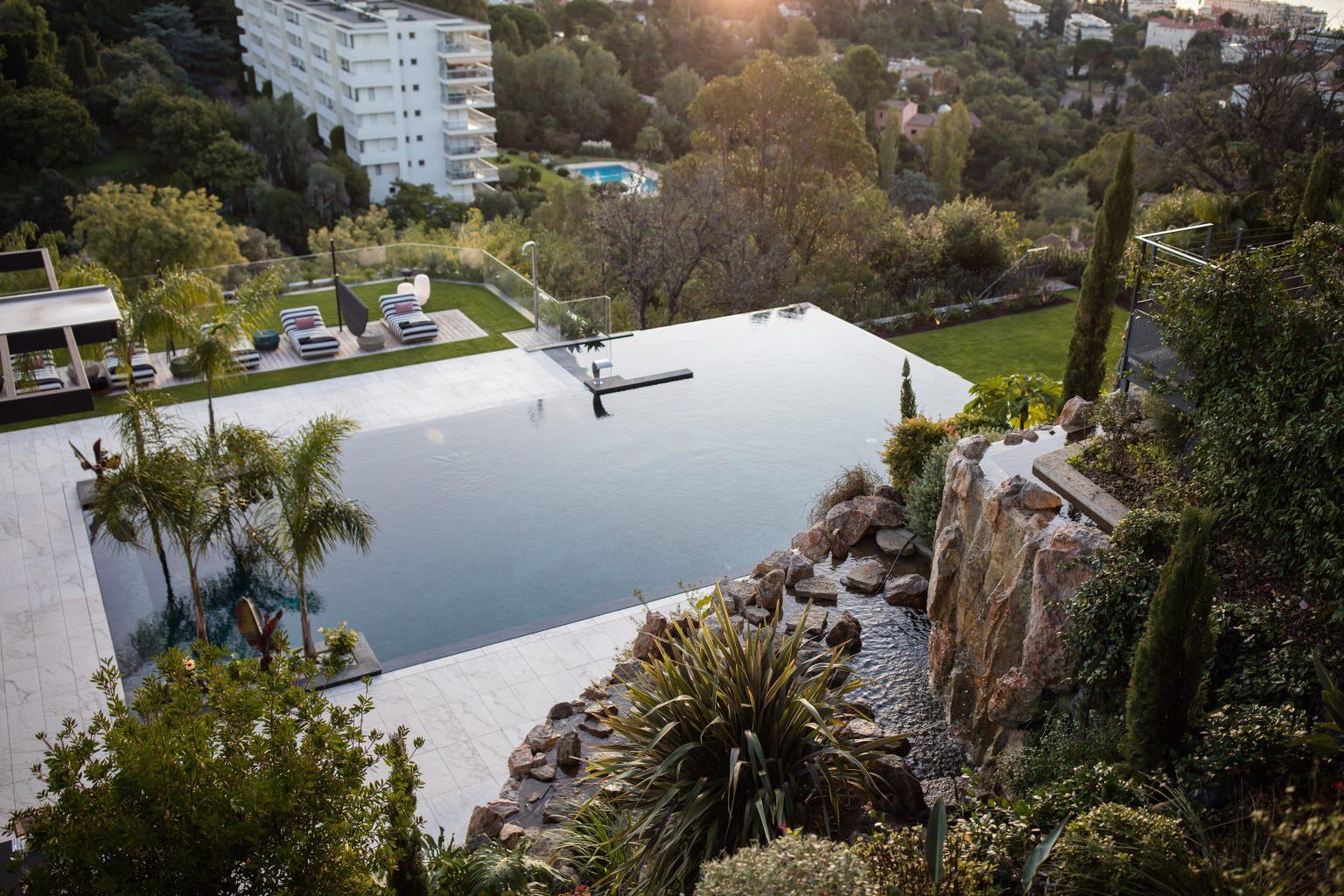1- villa luxe cannes piscine nature